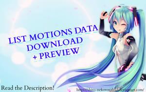[MMD MOTIONS DATA DL] + Preview (+350 Watchers) by Shiro-NekoVocaloid