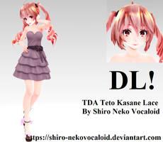 TDA Teto Kasane Lace [DOWNLOAD] by Shiro-NekoVocaloid