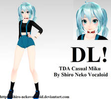 TDA Casual Miku [DOWNLOAD] by Shiro-NekoVocaloid