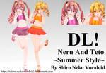 TDA Neru And Teto ~Summer Style~ [DL DOWN]