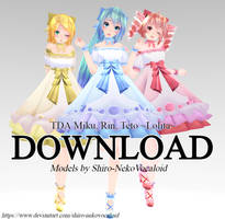 TDA Miku, Rin, Teto ~Lolita~ [DOWNLOAD]