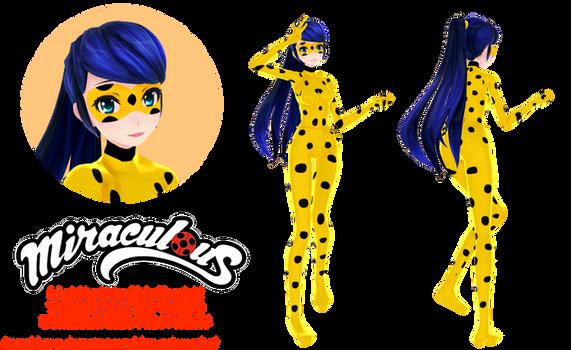 [MMD MLB] Ladybug (Yellow)