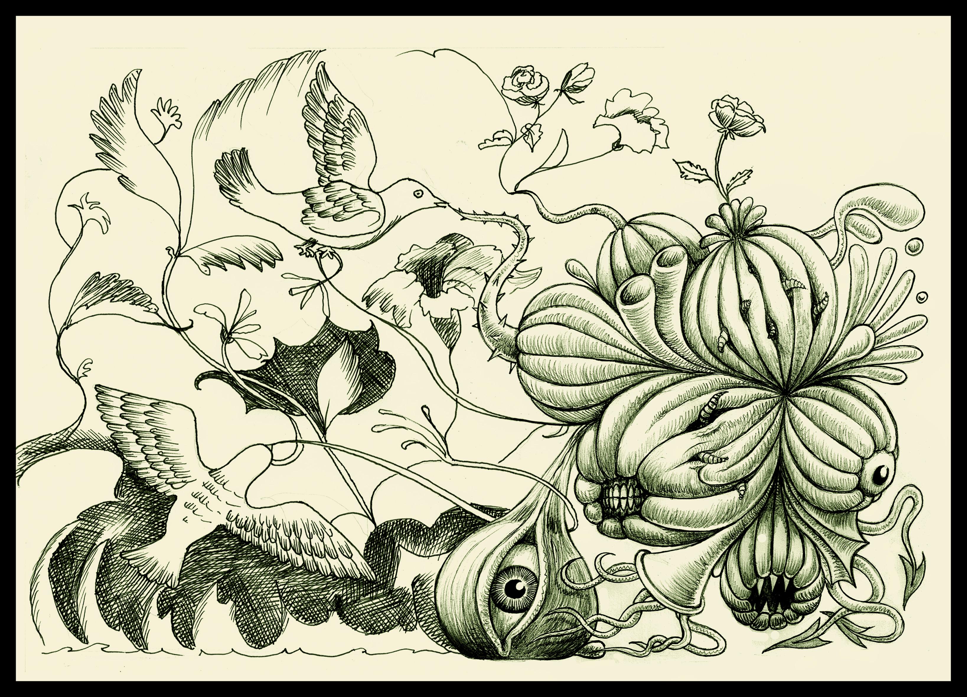 Fruit for the birds by FroukjeVoortallen