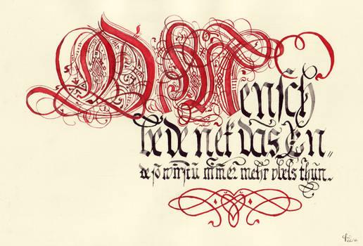 Johann Hering's calligraphy