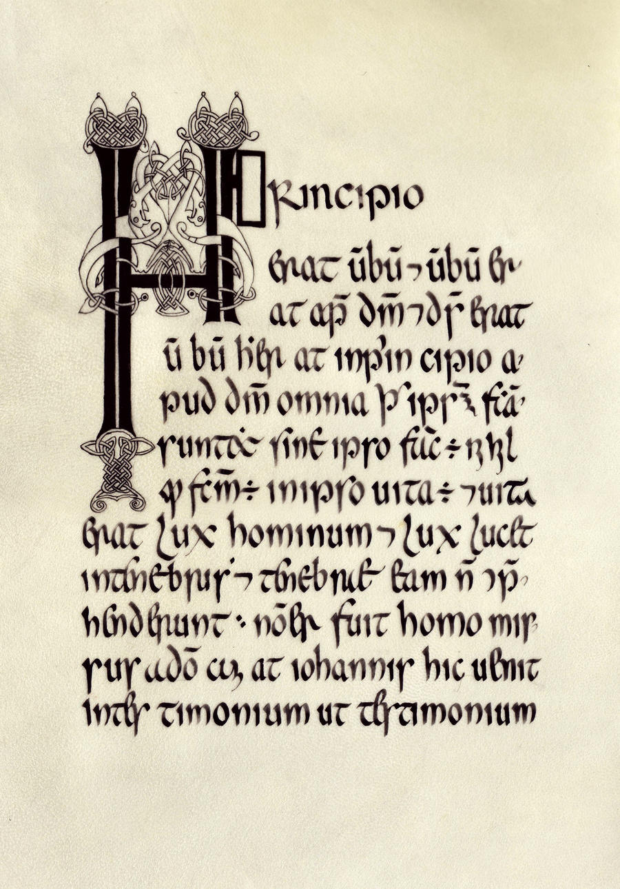 Book of armagh insular 39 s calligraphy by errance on deviantart Calligraphy books free