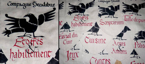 Compagnie Excalibur's flags