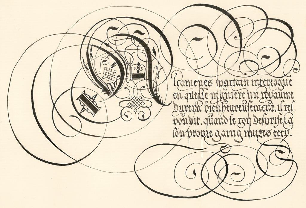 George de Carpentier's calligraphy by Errance