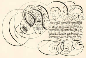 George de Carpentier's calligraphy