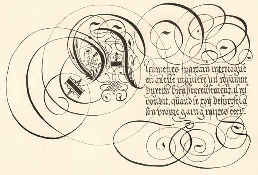 George de Carpentier's calligraphy
