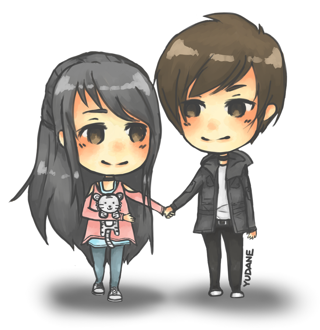 Anime Characters Holding Hands : Couple chibi for jong kook gaia by yudane on deviantart