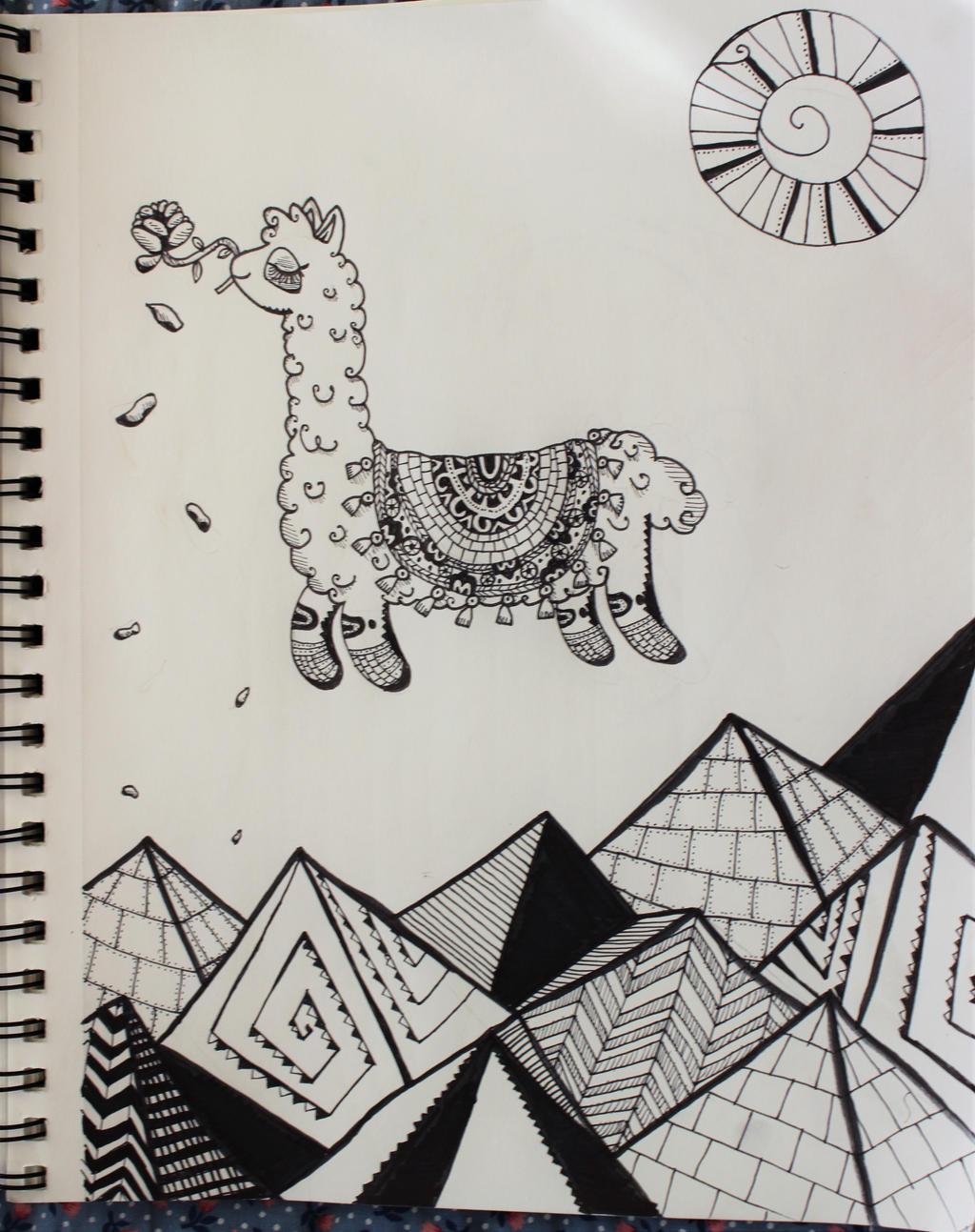 Sky Llama by wingedmusician