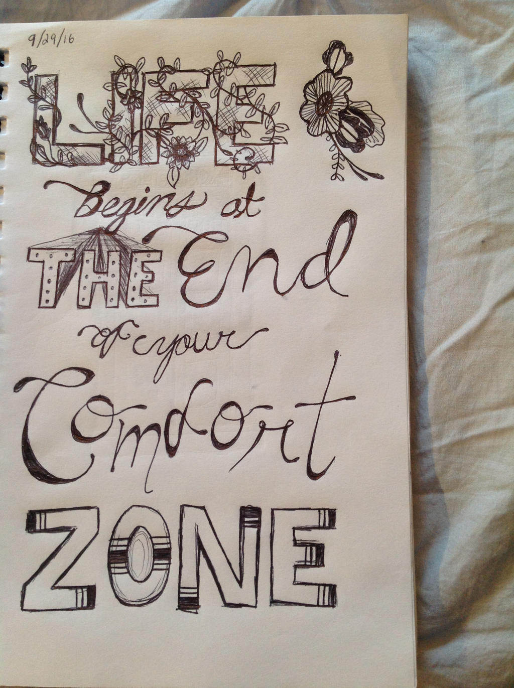 End of Your Comfort Zone by wingedmusician