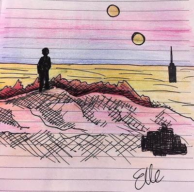 Tatooine Sunset by wingedmusician