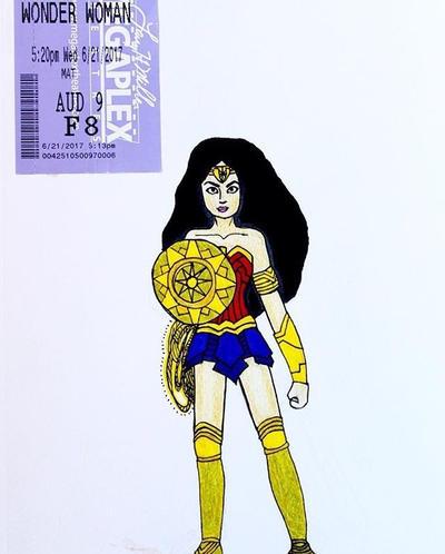 Wonder Woman by wingedmusician
