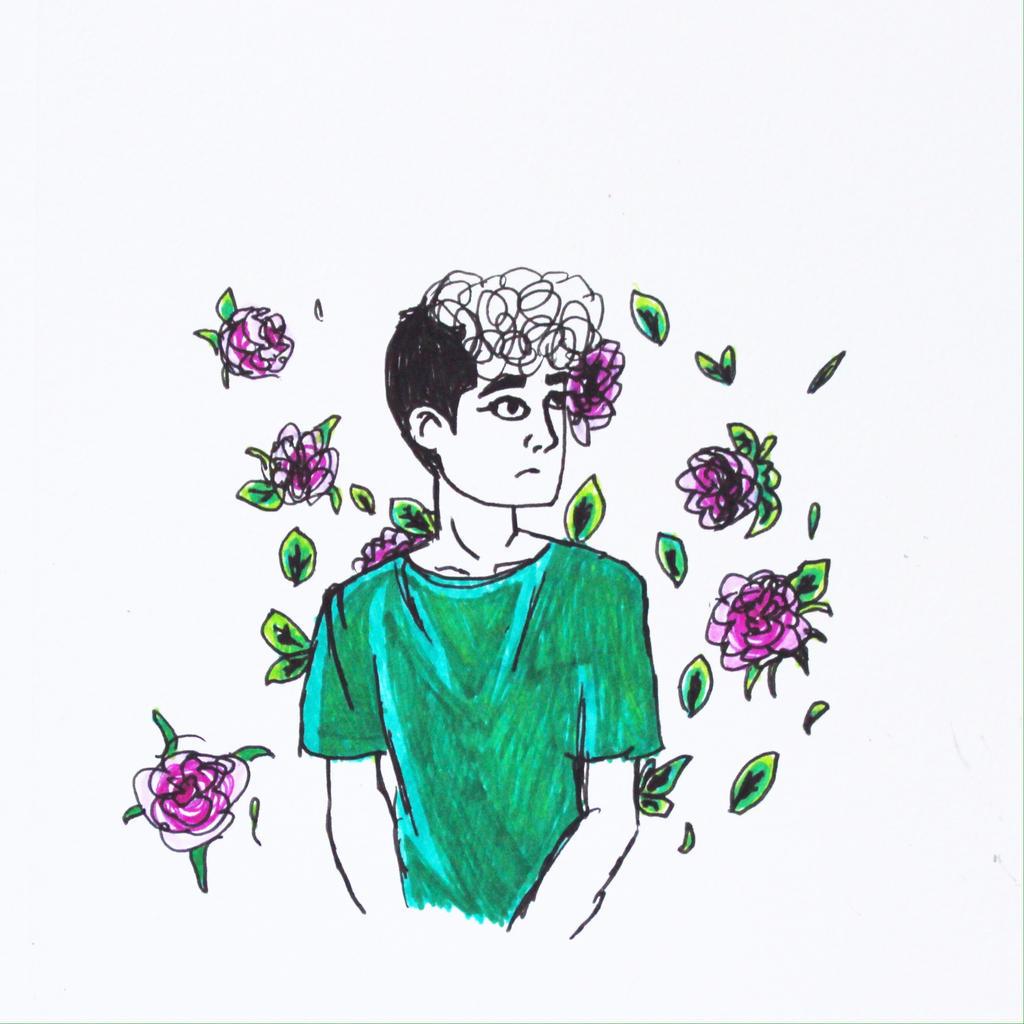 Flowered Boy by wingedmusician