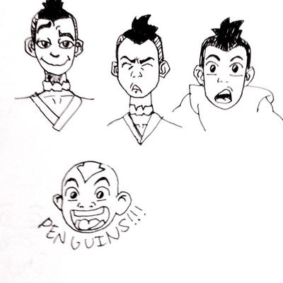 Avatar Doodles by wingedmusician