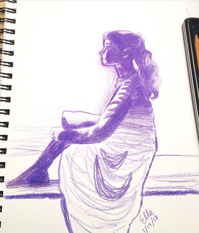 Girl In Purple by wingedmusician
