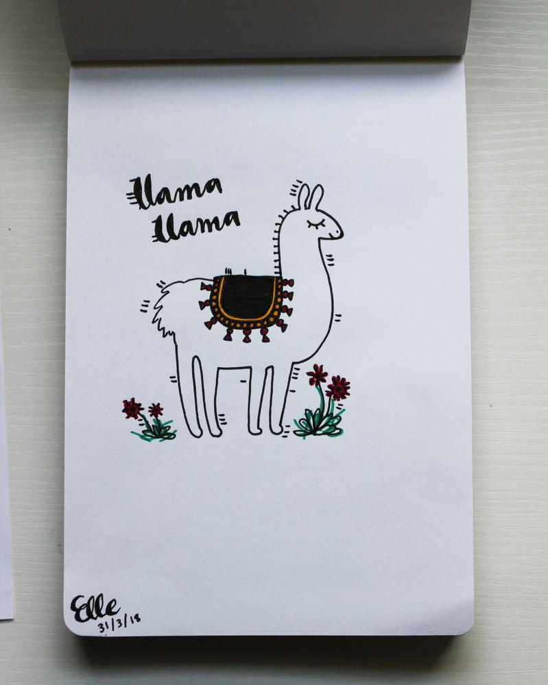 Llama Llama by wingedmusician