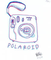 Polaroid Doodle by wingedmusician