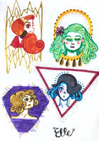 Four Goddesses by wingedmusician