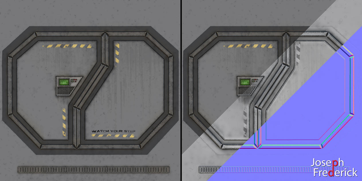 Sci-Fi spaceship environment - Door Texture Maps by ...
