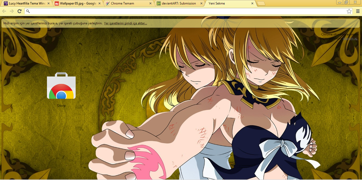 Google themes fairy tail - Fairy Tail Lucy Heartfilia Chrome Theme By Hiiyyep
