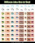 Different Anime Eyes by eruqi