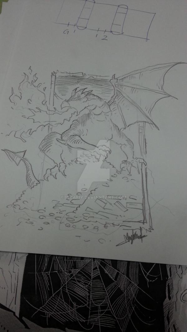 sketching by Iskafiy
