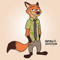 Fox #1: Nick Wilde by AlexAndPedro