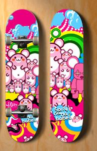 in skateboard deck by legriv