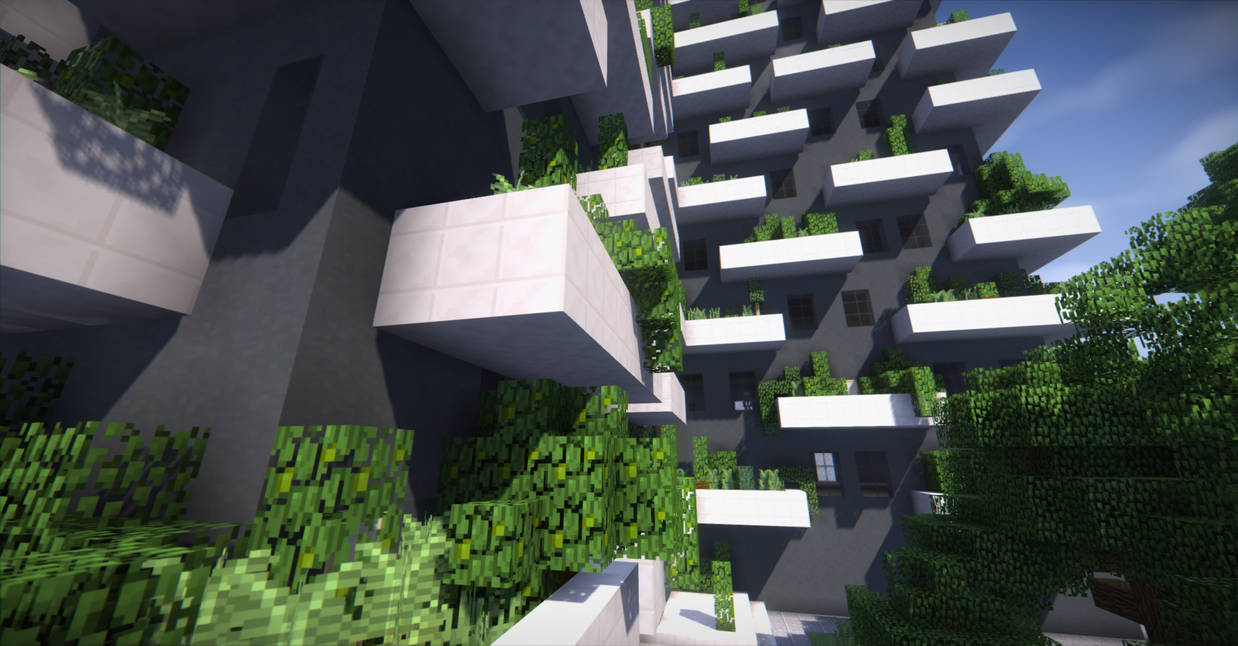 Minecraft Vertical Forest Apartment Building By Neutral Dreamer
