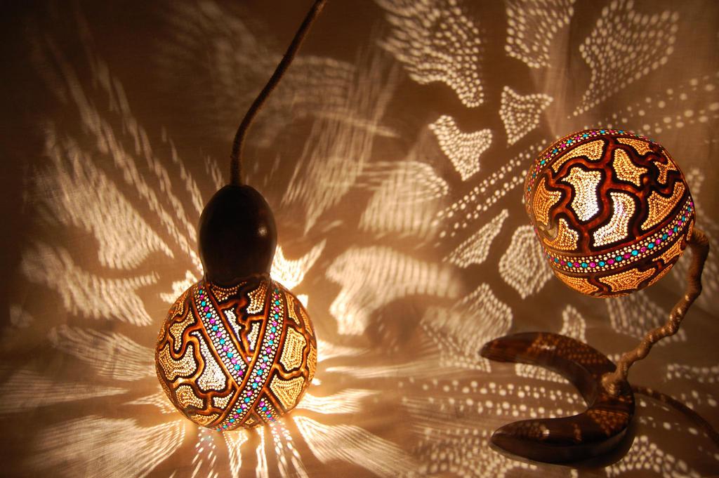 Gourd Lamp gourd lamp set -gourdlight-gourdlight on deviantart