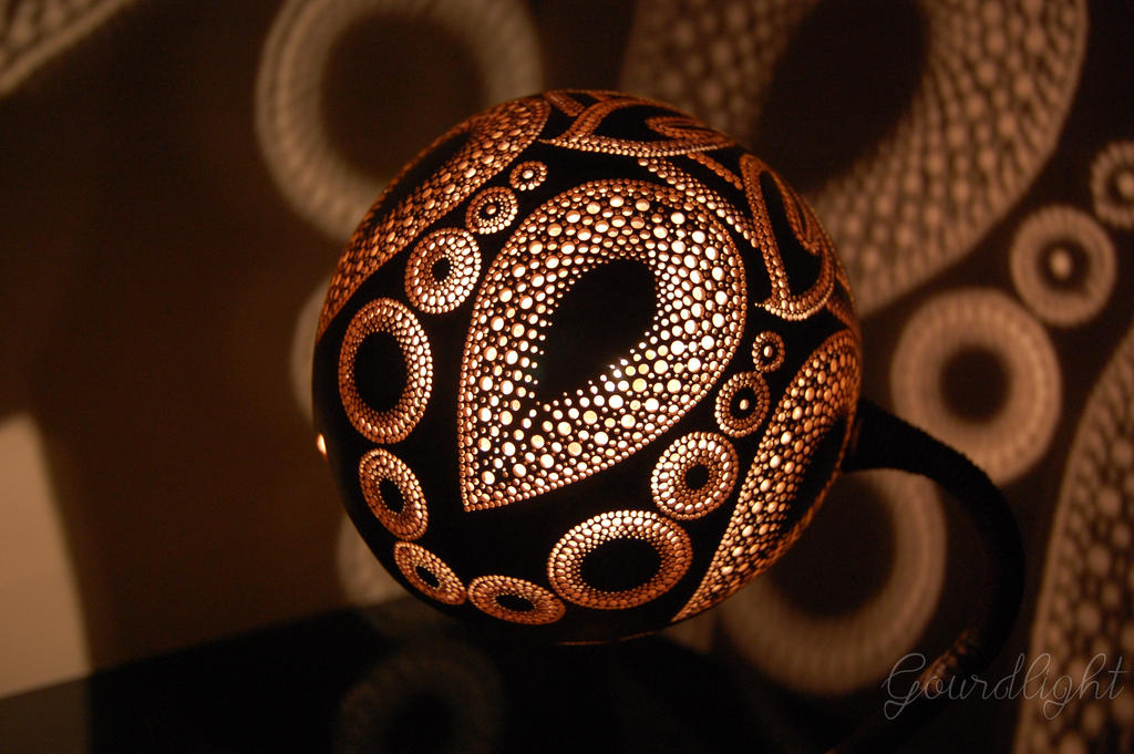 Handcrafted Gourd Lamp   Table Lamp VI  Gourdlight By Gourdlight ...