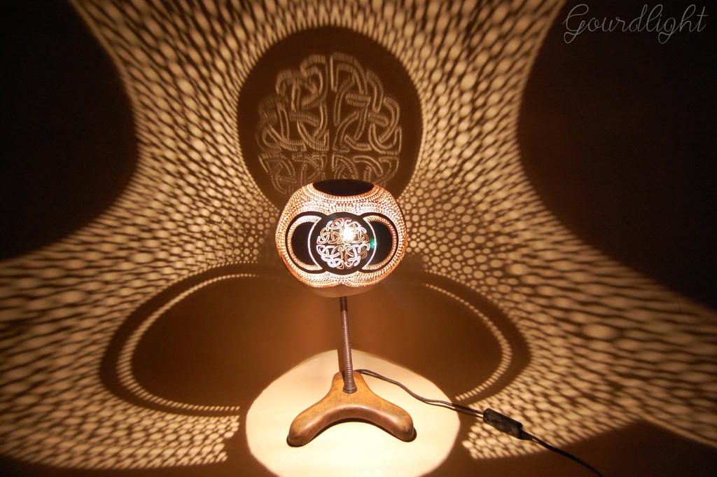Handcrafted gourd lamp table lamp vii gourdlight by gourdlight mozeypictures Images