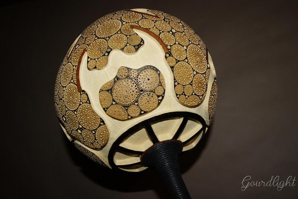 Gourd Lamp handcrafted gourd lamp - floor lamp i - gourdlightgourdlight