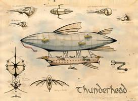 the Airship Thunderhead by feynico