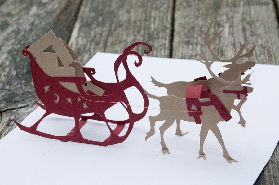 Reindeer Pop-up Card Prototype by feynico on DeviantArt