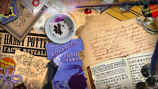 Harry Potter Desk Wallpaper and Gmail Theme