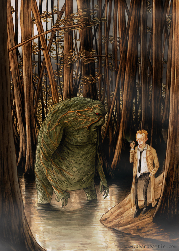 Swamp Thing and Constantine by dsb