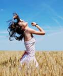 Dancing in the wheat field by verde-verde-verde