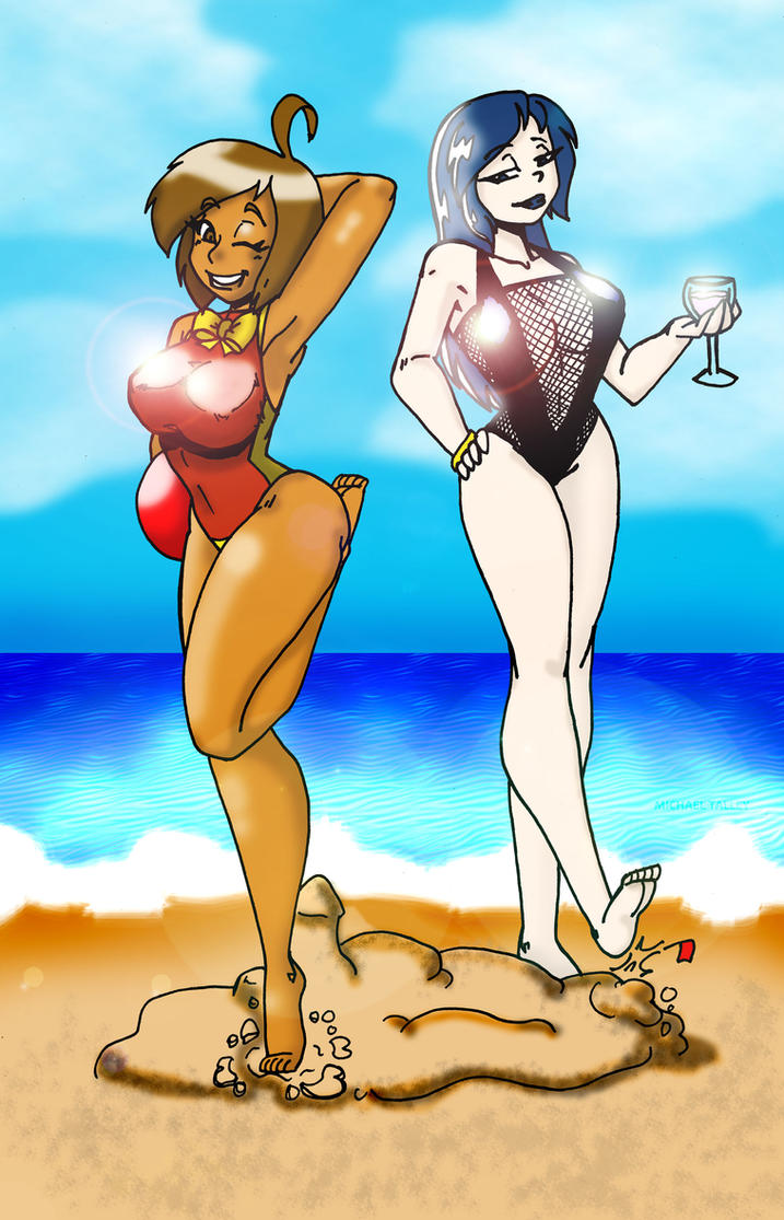 Swimsuit June and Thirty-six by CrazyCowProductions