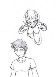 The Satyr and Eric by CrazyCowProductions