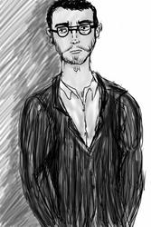 Grey guy in Black suit