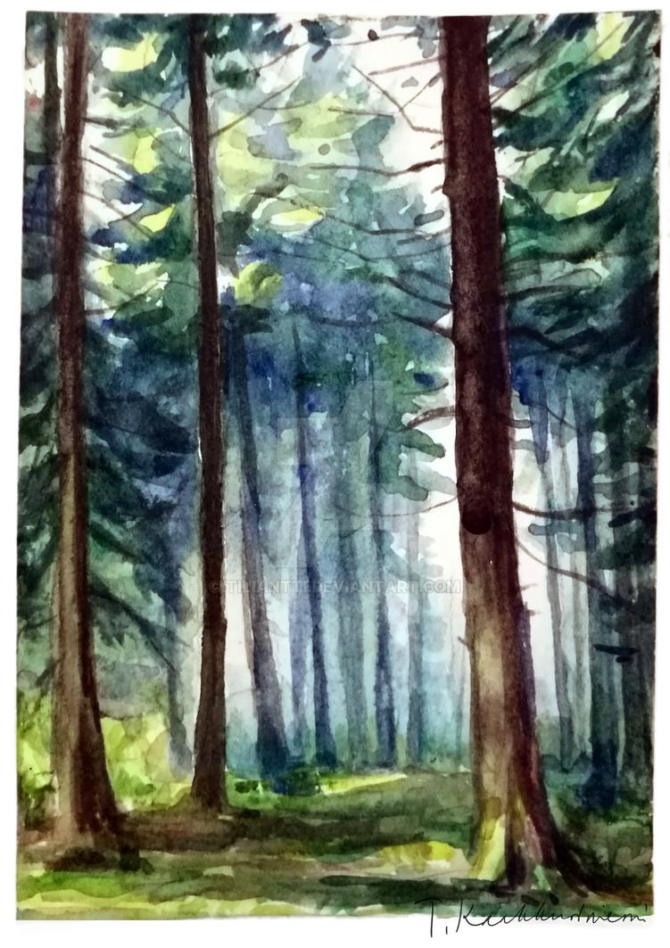 Little forest aquarelle by Tiliantti