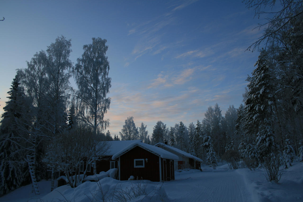 Home during winter by JoriV