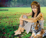 Angelina Jolie Tiger