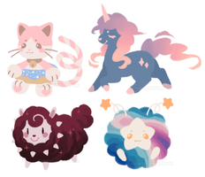 Assorted Lineless Adopts (PENDING) by Ponkochi