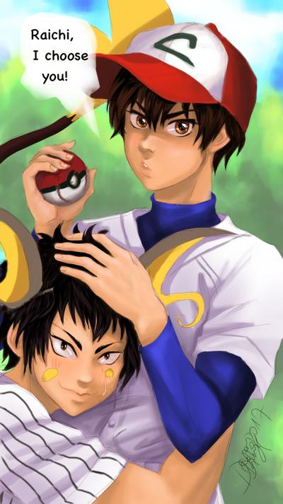 Pokemon trainer Eijun by DarionDamage