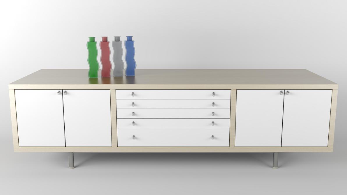magiker sideboard with skaemt vases by pixelarc on deviantart. Black Bedroom Furniture Sets. Home Design Ideas