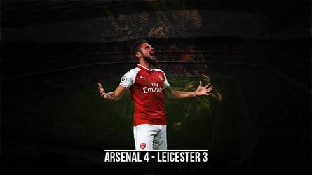 Giroud Roar Arsenal Leicester by nagyfam